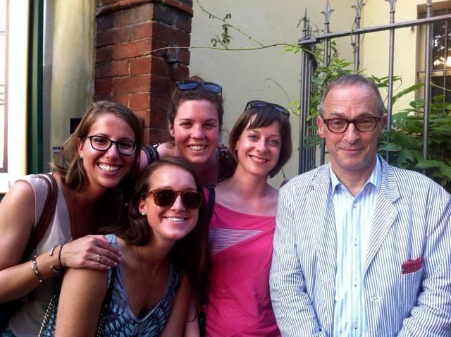 Mit David Sedaris nach einer Lesung in Barolo, 2013